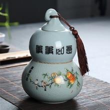 8a709a622026c Ruyao براد شاي السيراميك فتحت الشاي برميل بوير مختومة تخزين جرة الكونغ فو  طقم شاي اكسسوارات
