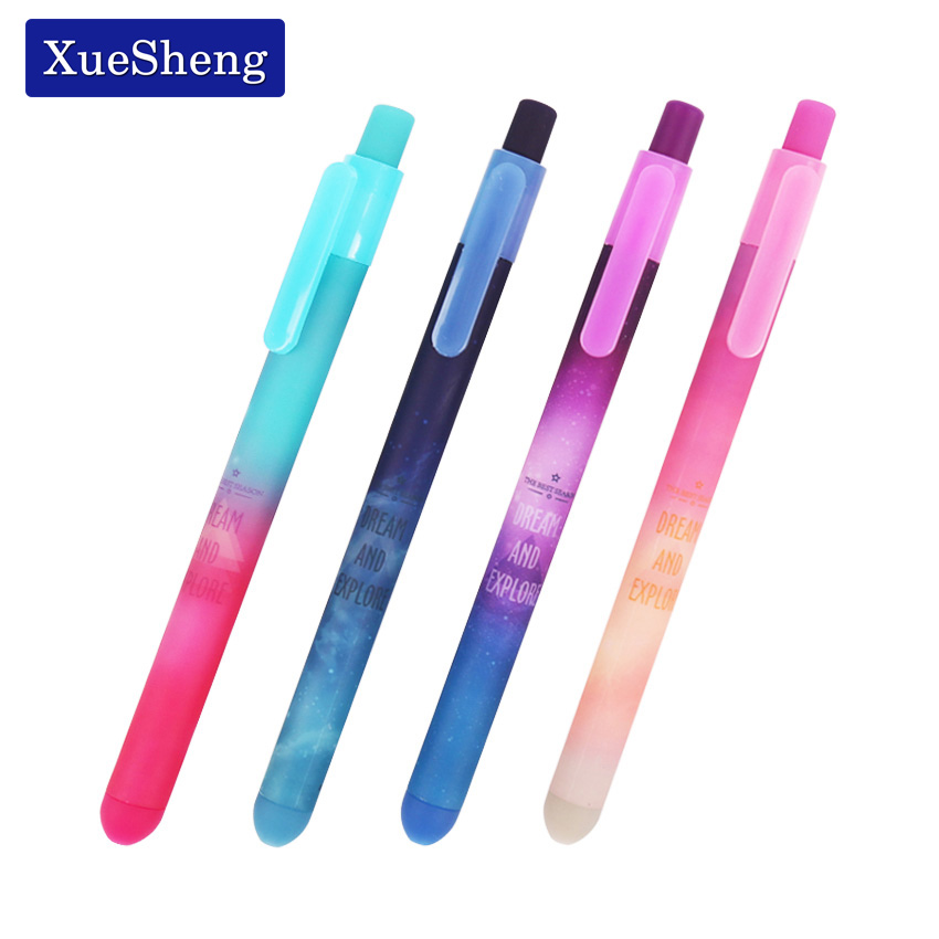 4 Pcs/Lot Beautiful Starry Sky Gel Pen Star Dream and Explore Black Ink Pens Stationery Office Accessories School Supplies new original lenovo thinkpad t510 t510i w510 palmrest keyboard bezel cover with touchpad 60y5504 75y4564