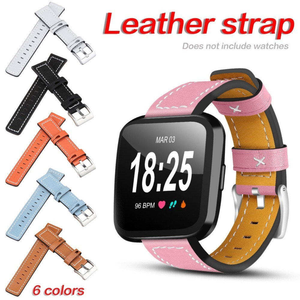 2018 Individual Replacement Colorful Strap for Fitbit Versa Leather 6 Colors Watch Band for Fitbit Versa Smartwatch Accessories