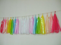New Iridescent Unicorn Rainbow Tassel Garland with 3m jute twine Decor,First Birthday Party,high chair banner,Baby Shower