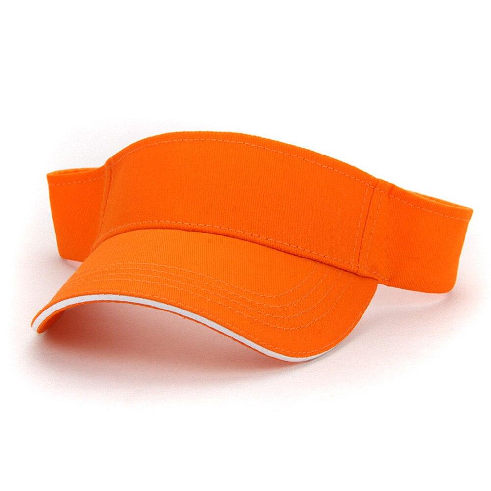 Men Women Summer Sports Solid Running Adjustable Adult Casual Party Outdoor Sunscreen Fashion Training Tennis Golf Visor Cap