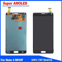 Super AMOLED For Samsung Galaxy Note 4 N910F N910C LCD Display Touch Screen Digitizer Replacement Assembly Brightness Adjustable