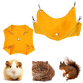 Guinea Pig Canvas Hanging Blanket Mat Hamster Hammock with 4 Hook Ferret Rabbits Cage Pet House Products