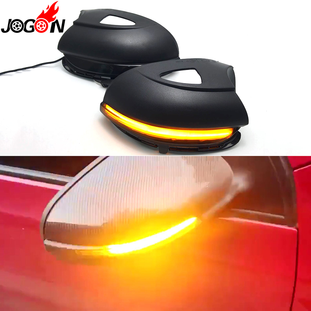 For VW GOLF 6 MK6 GTI R32 08-14 Touran LED Dynamic Turn Signal Light Side Wing Rearview Mirror Indicator Lamp With Bottom Shell rhino tuning 2pc styling car led under mirror puddle light smd lighting for golf 6 gti cabriolet touran