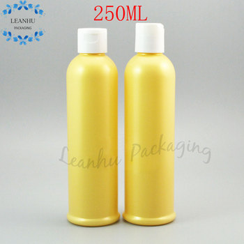 250ml Plastic Lotion Cream Makeup Packaging Bottles,Empty Cosmetic Containers,250CC Refillable Personal care Shampoo Containers