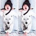 Новорожденного Мальчика Комбинезон Белый Волк Костюм Лук Досуг Боди Одежда Малыша Комбинезон Мальчиков Бренд Одежды