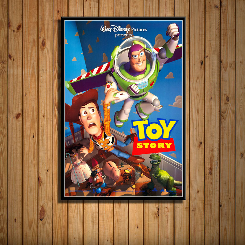 High Quality 5 Styles Toy Story Poster Movie Film Print Silk Posters Home Decor