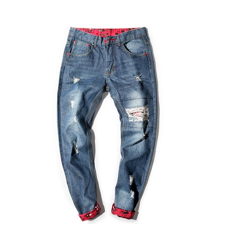 Pantalones Vaqueros Ocasionales De Los Hombres De Mezclilla Skinny Jean Pantalones Rectos Ripped Pants Homme Hombres Baratos Clasico Biker Jeans Para Hombre Shiping Libre Pantalones Vaqueros Cheap Mens Jeans Biker Jeansbiker Jeans Men