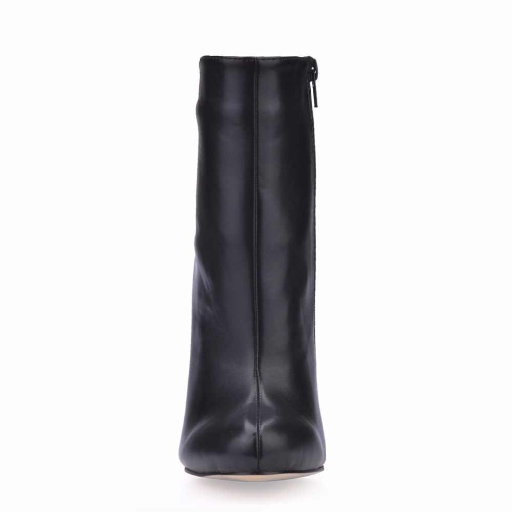 CHMILE CHÂU Đen Gợi Cảm Đảng Giày Nữ Đế Giày Cao Gót Trưởng Thành Văn Phòng Nữ Giữa Bắp Chân Giày Zapatos Mujer 0640CBT-c1