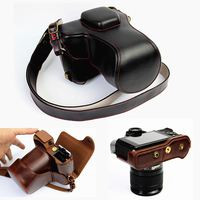 high quality PU Leather Camera Case For Fujifilm XT20 XT10 X T10 X T20 Camera Bag Cover With Battery Opening strap