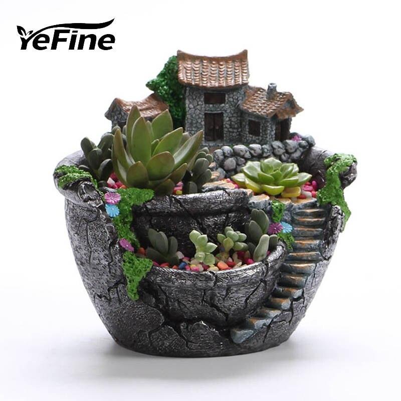 5pcs Dollhouse Miniature Resin Cactus DIY Plants Decoration T G3