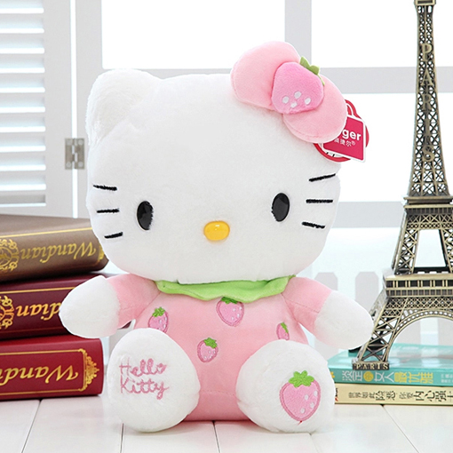 Free Shipping!Strawberry Hello Kitty Cat Plush Toys, Children's Gifts, Gifts Girlfriend