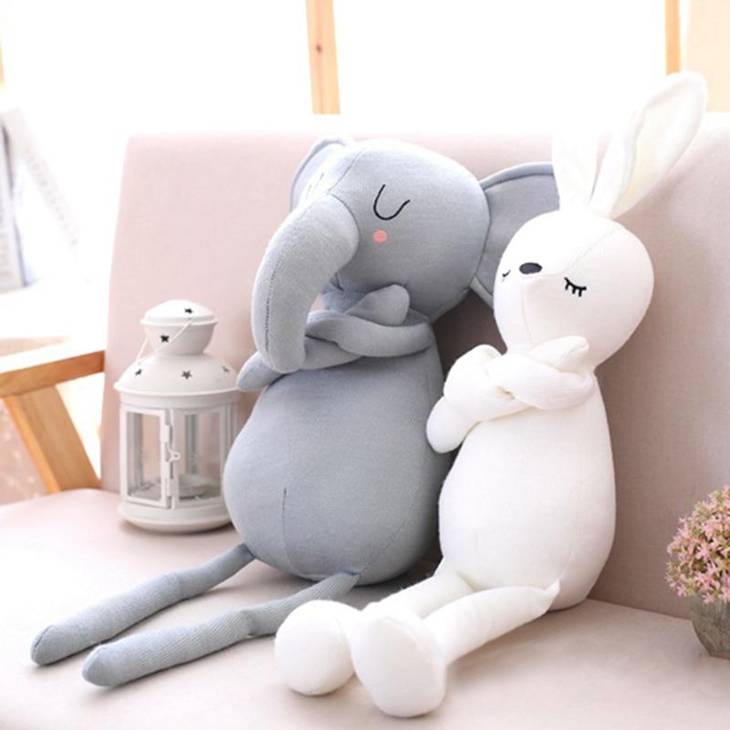 Милые подушки с кроликом для маленьких девочек, мягкие игрушки с животными, подушка для детской кровати, украшения детской комнаты, подарок для детейПодушка   -