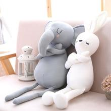 חמוד פיל ארנב בייבי ילדה רך ממולא בעלי החיים צעצוע תינוק מיטת כרית כרית תינוק חדר ילדים קישוט ומתנות
