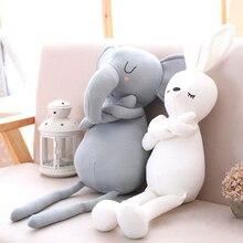 Bonito elefante coelho travesseiros para a menina do bebê macio brinquedo animal de pelúcia cama do bebê almofada travesseiro decoração do quarto do bebê crianças presente