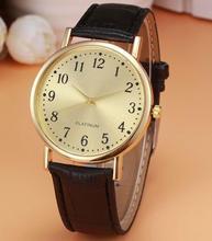 Женские часы кожаный классический Повседневное часы сплав круглый Стекло Роскошные Кварцевые наручные часы Reloj Mujer 18FEB9