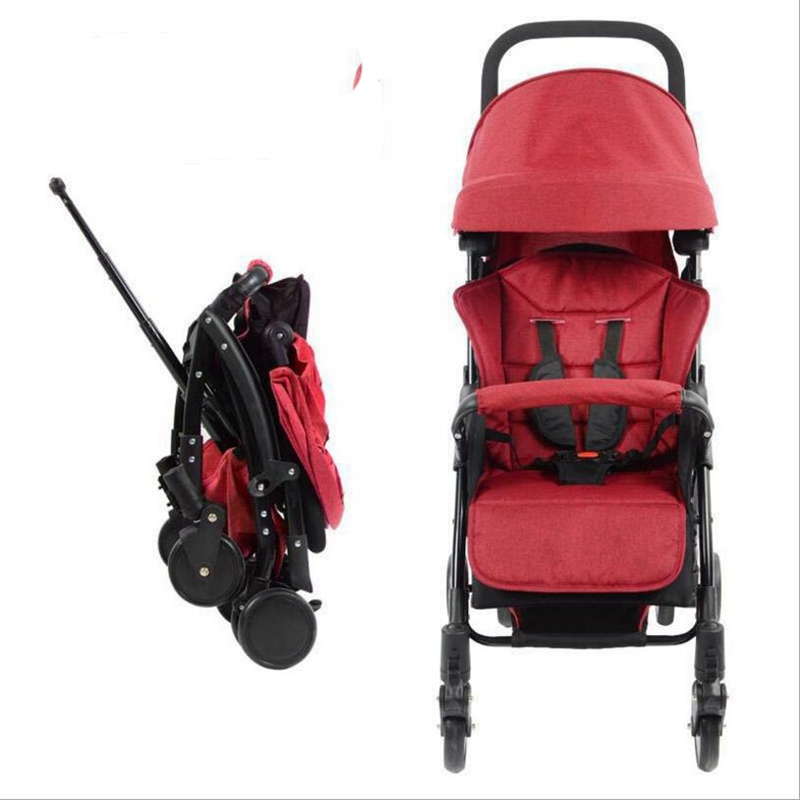 лучшая цена 2018 new baby stroller ultra light shock absorber folding portable can sit lie baby young children kids simple mini umbrella 6KG