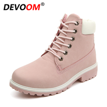 New Winter Snow Boots Couples/Wemens Fashion Ankle Boot All-Match PU Marti Boot Fur Insole Nubuck Leather Warm Shoes Army Green