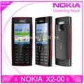 Remodelado x2 original nokia x2-00 fm bluetooth java 5mp desbloqueado celular frete grátis