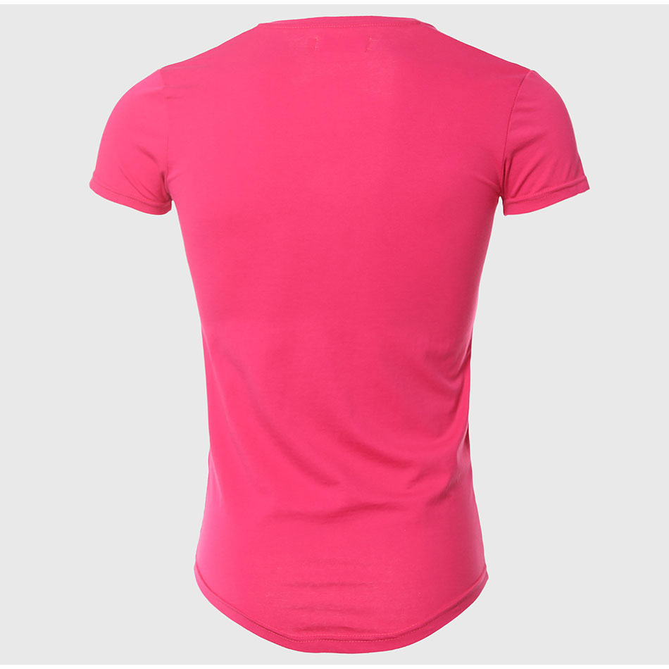 21 Colors Deep V Neck T-Shirt Men Fashion Compression Short Sleeve T Shirt Male Muscle Fitness Tight Summer Top Tees 12