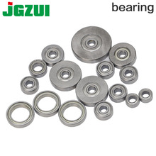 """5pc Top Mounted 1/2, 3/8, 3/4 Bearing & Stop Ring for 1/4""""1/2 SH Router Bit"""