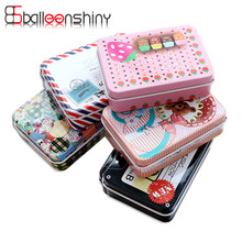 BalleenShiny Mini Cute Cartoon Tin Metal Drawer Receive Storage Box Candy Case Home Organizer Jewelry Container Gift