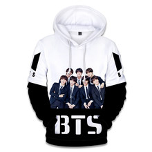 Harajuku LUCKYFRIDAYF 2018 BTS Kpop Fashion 3D Hoodies Sweatshirts Print Women/Men Portrait print Hoodies Sweatshirt Clothes 4XL(China)