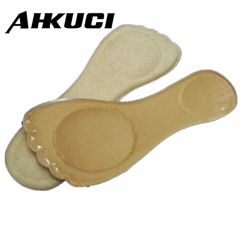 Gel Insoles 3/4 length Plantar metatarsalgia slip-resistant thickening Metatarsal Support And Heel Cushion Party Feet P20 2017 promotion gel insoles shock