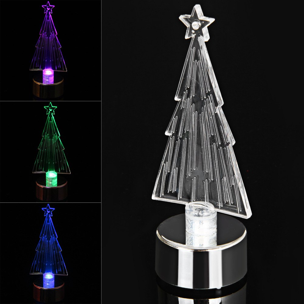 pzcd my 10 rgb led candle style colorful mini desktop christmas tree lamp transparent silver in christmas from home garden on aliexpresscom alibaba