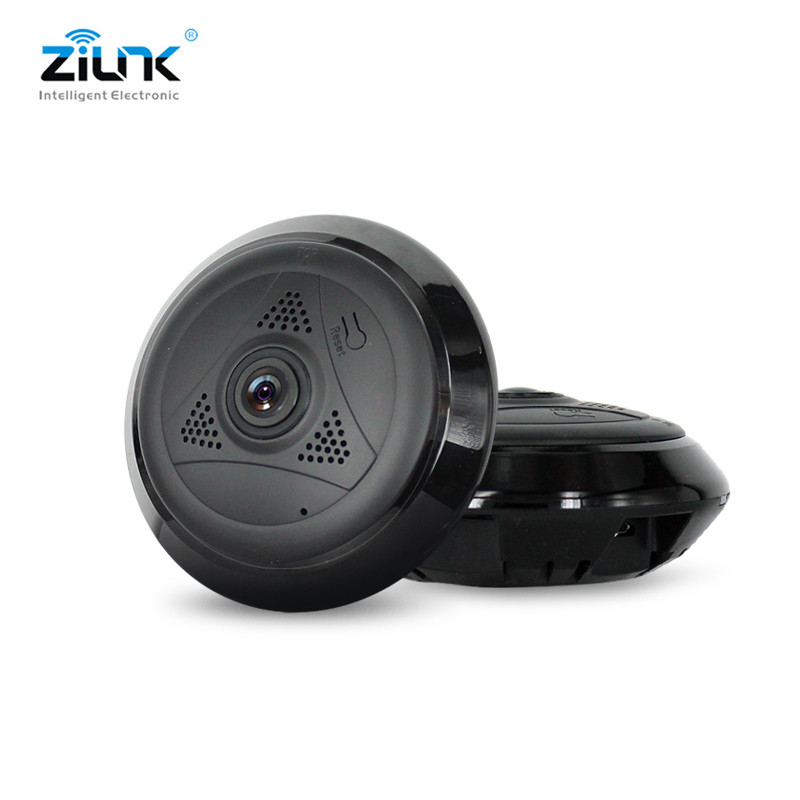ZILNK 1.3MP HD WIFI IP Camera Fisheye 360 Degree Panoramic Night Vision P2P Two Way Audio Home Security Mini Camera VR Cam mini hd 360 degree fisheye panoramic analog high definition surveillance camera module security indoor ir night vision