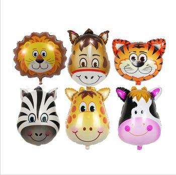 Animal Balloons Jungle Safari Party Baloons Jungle Party Decorations Foil Animal Ballon Birthday Party Decor Kids Cartoon Hat