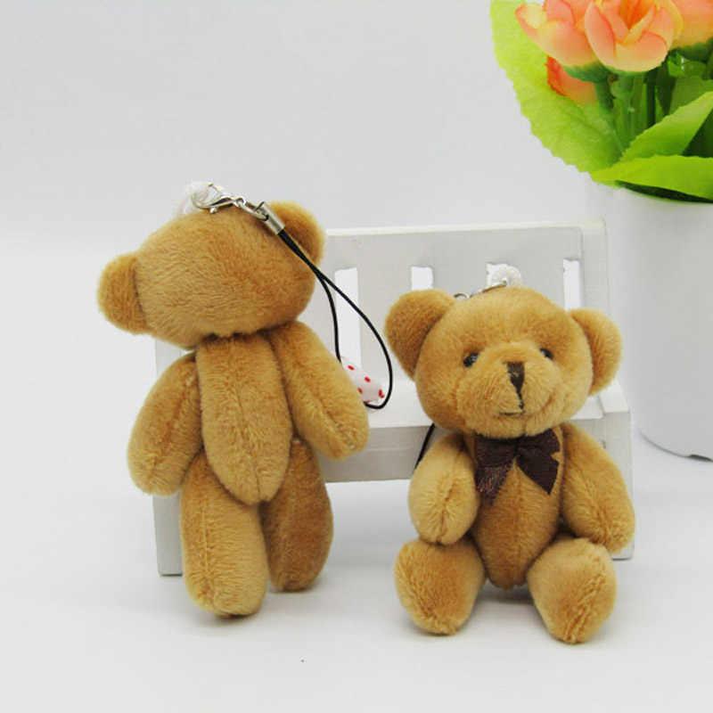 50 шт./партия Kawaii небольшое соединение плюшевых мишек плюшевые 8 см игрушки плюшевый мишка маленький медведь Тэд плюшевые игрушки с Бант Цепь 02102