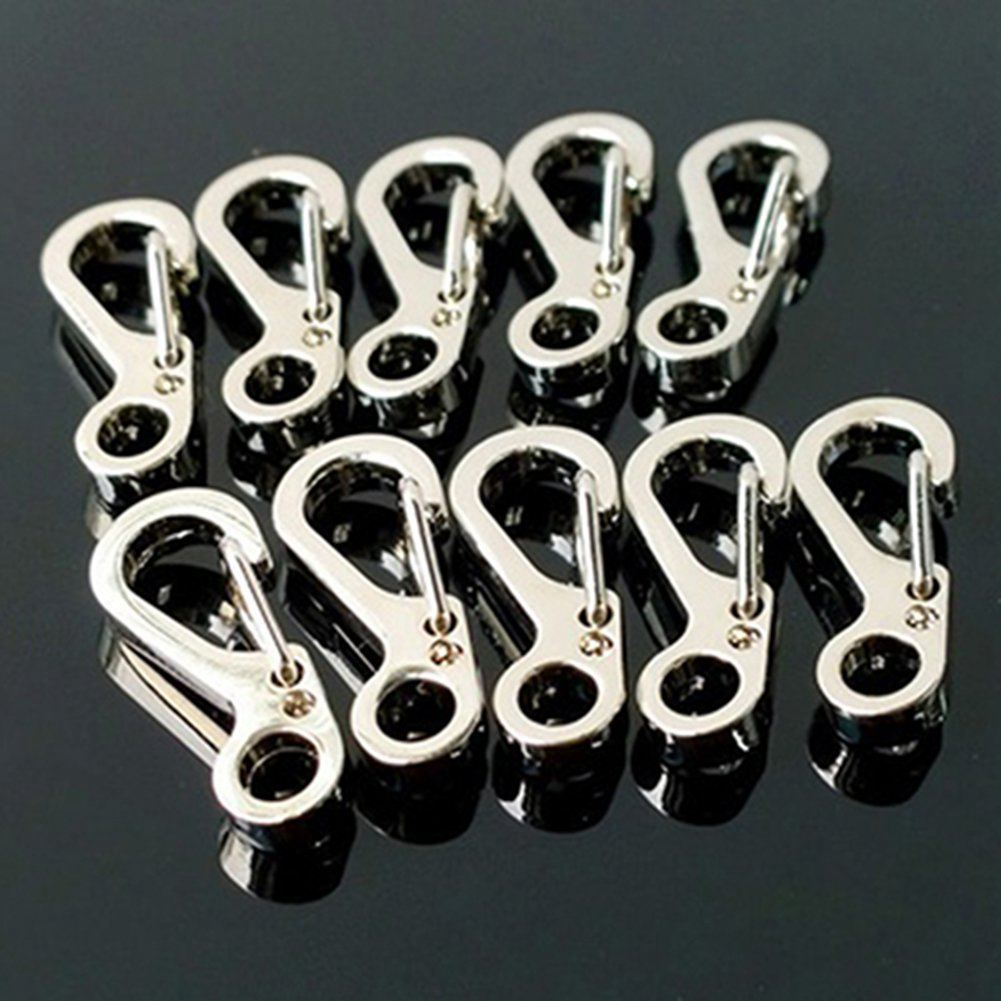 10PCS/LOT Mini SF Spring Backpack Clasps Climbing Carabiners EDC Keychain Camping Bottle Hooks Paracord Survival Gear