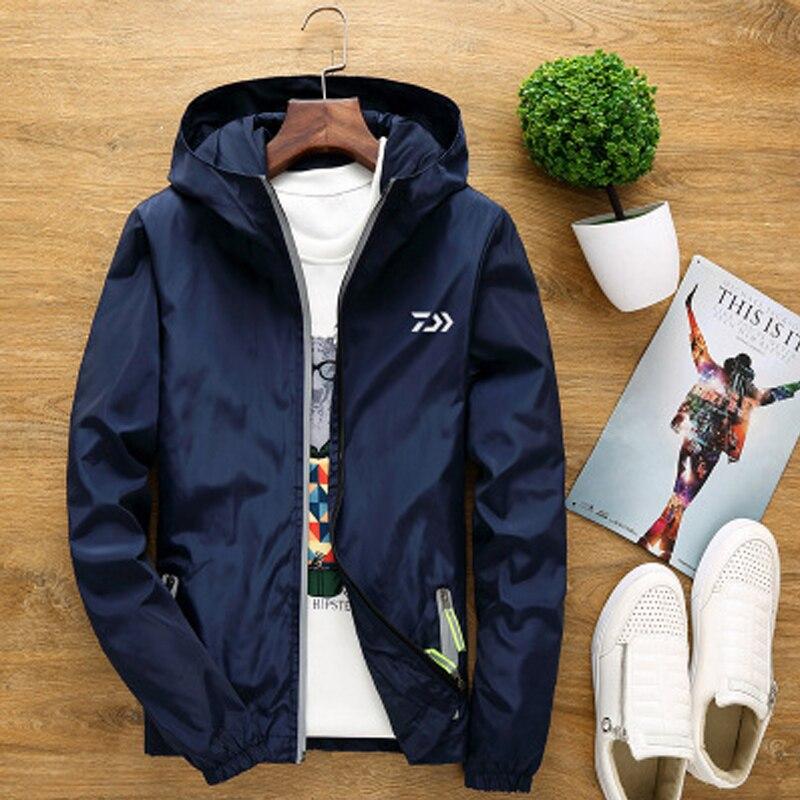 Daiwa Outdoor S-6XL Big Size Men and Women Jacket Couple Windbreaker Reflective Fishing Clothes Hiking Camping Clothing