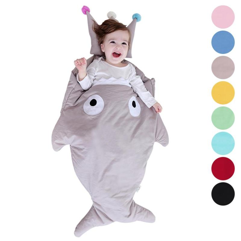 High Quality child sleeping bag baby quilt cotton holding children shark sleeping bag cartoon infant  bag gift box 2017 XV2 free shipping infant children cartoon thick coral cashmere blankets baby nap blanket baby quilt size is 110 135 cm t01 page 2