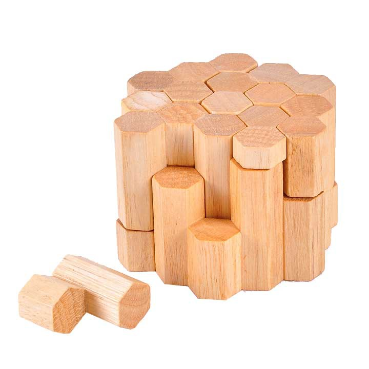 3D educational IQ brain teaser wooden toys Hive puzzle games for kids and adults
