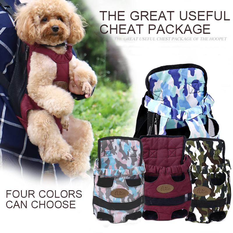 3 Size Pet Carrier Backpack Adjustable Front Cat Dog Travel Bag Legs Out Easy-Fit for Traveling Hiking