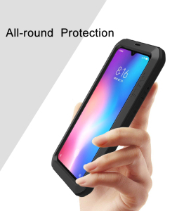 Image 2 - For Xiaomi Mi9 Explorer Case LOVE MEI Shock Dirt Proof Water Resistant Metal Armor Cover Phone Case for Xiaomi Mi 9 6.39 inch