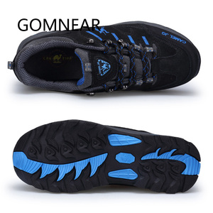 Image 3 - GOMNEAR Zapatillas de senderismo para hombre, zapatos de Trekking y pesca al aire libre, impermeables, para turismo, deportes de acampada, caza, botas de cuero