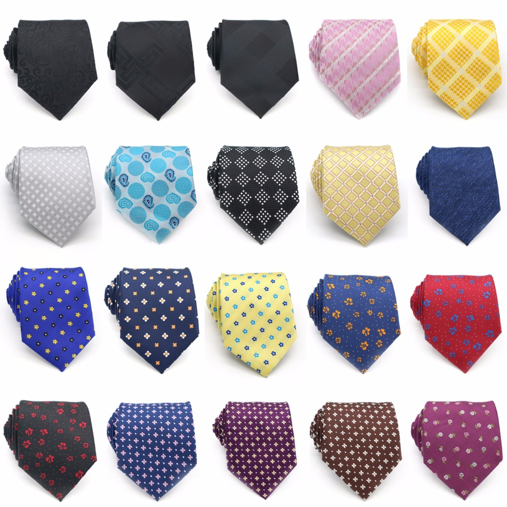 KT20PE (LOT 20 PCS) Classic 100% Silk Mens Tie Neck Ties 8CM Small Flowers Men Business Wedding Party Gravatas Accessories