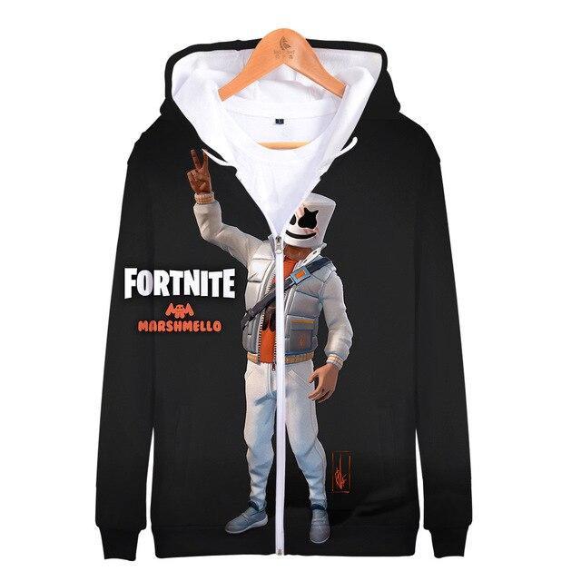 Full Print Disfraz Battle Royal 3D Zipper Hoodies Gamer Fleece Long Sleeve Game Sweatshirt Thick Hoddie For Men Winter Jackets 5