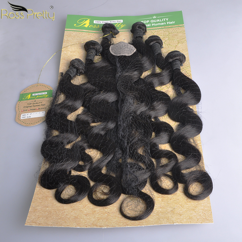 Human Hair Bundles Brazilian Remy Body Wave Hair Weave Bundles Original Black Color Ross Pretty New Fashion Hair 35g/bundle