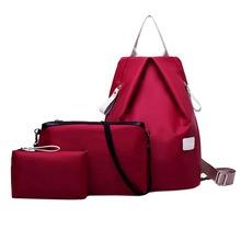 3 Sets Korean Fashion Composite Bag Women Messenger Bags Fashion Nylon Messenger bag and Purse Ladies Schoolbag for Girls bolsa