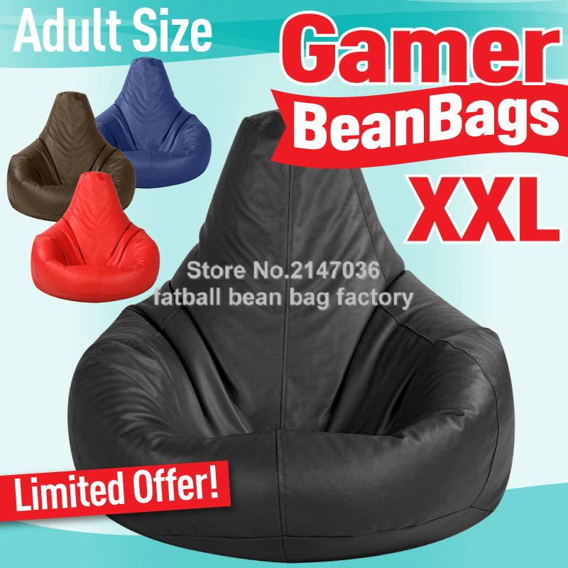 gamer bean bag xxl adults size big beanbag sofa chair portable bean bag furniture cushion. Black Bedroom Furniture Sets. Home Design Ideas