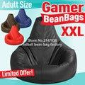 Gamer bean bag XXL, adults size BIG beanbag sofa chair, portable bean bag furniture cushion , Waterproof beach chair