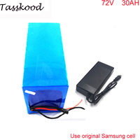 Samsung e bike battery 72v 30ah lithium battery for great powerful 72v 3000w e bike with charger and bms
