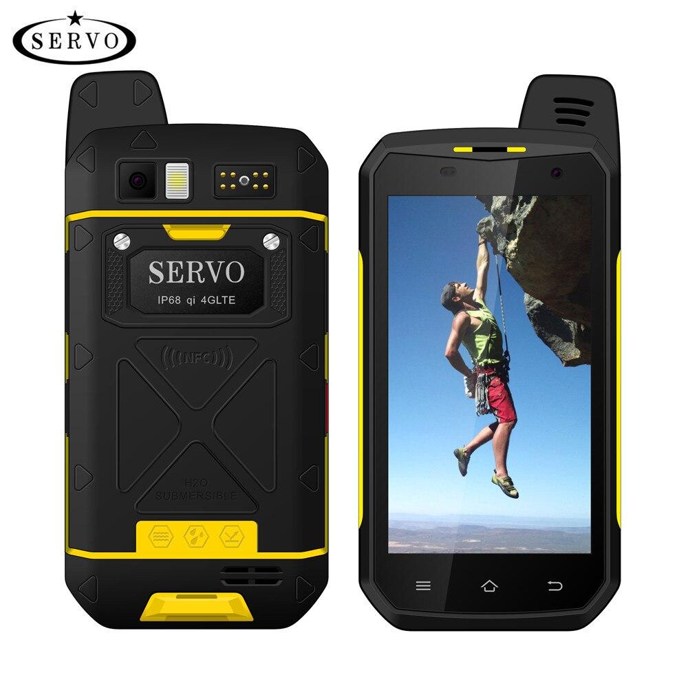 "SERVO Original B6000 MTK6755 Octa Core 4G 64GB Android 6.0 OS 13MP 5000mAh IP68 Support de téléphone portable sans fil talkie-walkie 4.7"""