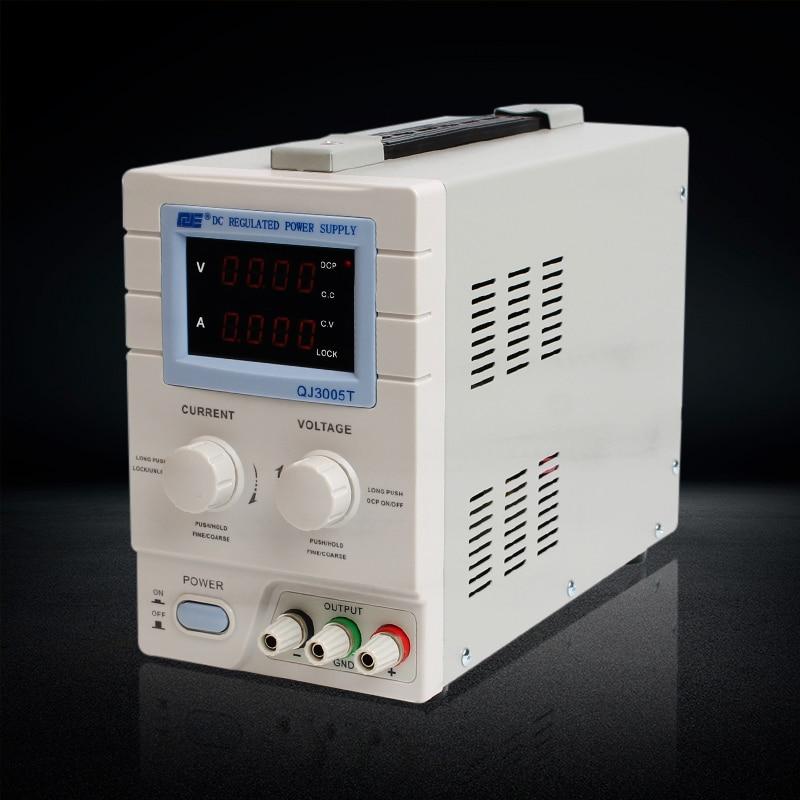 QJ3005T Variable Linear Input Voltage 110V AC DC LED Digital Voltage Regulators Power Supply,adjustable 0-30V 0-5A power supply [vk] sjb920 sjb920 16a 16a inverter input special power filter voltage regulators