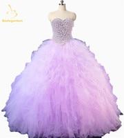 Bealegantom Sweetheart Quinceanera Dresses 2018 Ball Gown Pearls Beaded Sweet 16 Dress 15 Years Vestidos De 15 Anos QA1183