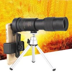 Nowy 10-30X30 monokularowy aparat w telefonie komórkowym teleskop chowany Zoom okulary zewnętrzne teleskop o dużej mocy